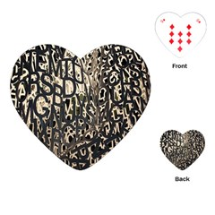 Wallpaper Texture Pattern Design Ornate Abstract Playing Cards (Heart)