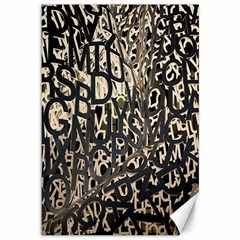 Wallpaper Texture Pattern Design Ornate Abstract Canvas 12  x 18