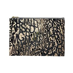 Wallpaper Texture Pattern Design Ornate Abstract Cosmetic Bag (Large)