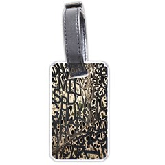 Wallpaper Texture Pattern Design Ornate Abstract Luggage Tags (One Side)