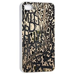 Wallpaper Texture Pattern Design Ornate Abstract Apple iPhone 4/4s Seamless Case (White)