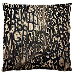 Wallpaper Texture Pattern Design Ornate Abstract Large Cushion Case (one Side)