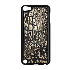 Wallpaper Texture Pattern Design Ornate Abstract Apple Ipod Touch 5 Case (black)