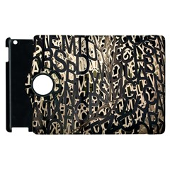 Wallpaper Texture Pattern Design Ornate Abstract Apple iPad 2 Flip 360 Case