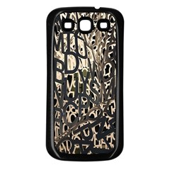 Wallpaper Texture Pattern Design Ornate Abstract Samsung Galaxy S3 Back Case (Black)