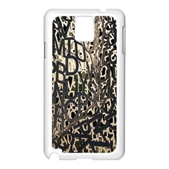 Wallpaper Texture Pattern Design Ornate Abstract Samsung Galaxy Note 3 N9005 Case (White)