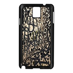 Wallpaper Texture Pattern Design Ornate Abstract Samsung Galaxy Note 3 N9005 Case (Black)