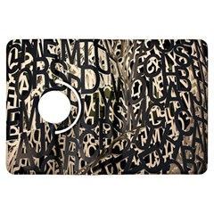 Wallpaper Texture Pattern Design Ornate Abstract Kindle Fire HDX Flip 360 Case