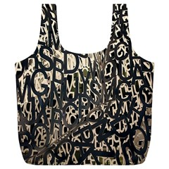 Wallpaper Texture Pattern Design Ornate Abstract Full Print Recycle Bags (L)