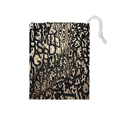 Wallpaper Texture Pattern Design Ornate Abstract Drawstring Pouches (Medium)