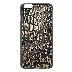 Wallpaper Texture Pattern Design Ornate Abstract Apple iPhone 6 Plus/6S Plus Black Enamel Case