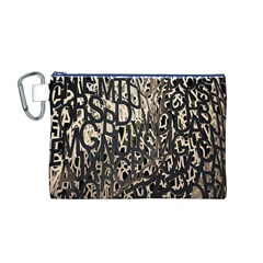 Wallpaper Texture Pattern Design Ornate Abstract Canvas Cosmetic Bag (M)