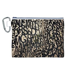Wallpaper Texture Pattern Design Ornate Abstract Canvas Cosmetic Bag (L)