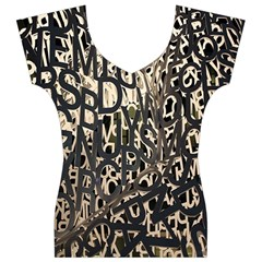 Wallpaper Texture Pattern Design Ornate Abstract Women s V-Neck Cap Sleeve Top