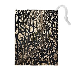 Wallpaper Texture Pattern Design Ornate Abstract Drawstring Pouches (extra Large)