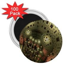 Geometric Fractal Cuboid Menger Sponge Geometry 2 25  Magnets (100 Pack)