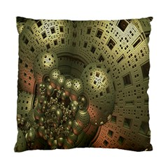 Geometric Fractal Cuboid Menger Sponge Geometry Standard Cushion Case (one Side)