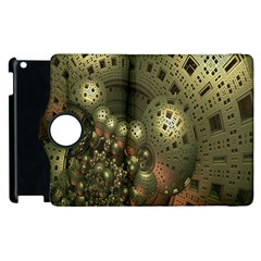 Geometric Fractal Cuboid Menger Sponge Geometry Apple iPad 3/4 Flip 360 Case