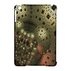 Geometric Fractal Cuboid Menger Sponge Geometry Apple iPad Mini Hardshell Case (Compatible with Smart Cover)