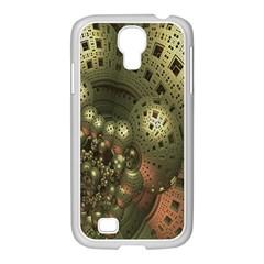 Geometric Fractal Cuboid Menger Sponge Geometry Samsung GALAXY S4 I9500/ I9505 Case (White)