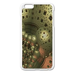 Geometric Fractal Cuboid Menger Sponge Geometry Apple iPhone 6 Plus/6S Plus Enamel White Case