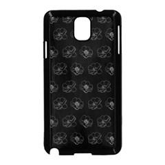 Floral pattern Samsung Galaxy Note 3 Neo Hardshell Case (Black)