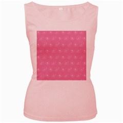 Pink pattern Women s Pink Tank Top