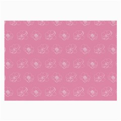 Pink pattern Large Glasses Cloth (2-Side)