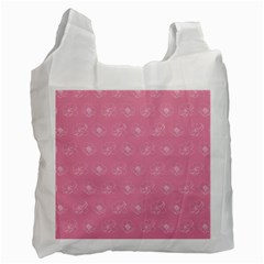 Pink pattern Recycle Bag (One Side)