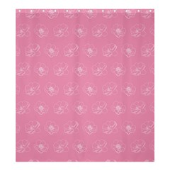 Pink pattern Shower Curtain 66  x 72  (Large)