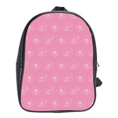Pink pattern School Bags(Large)