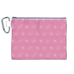 Pink pattern Canvas Cosmetic Bag (XL)