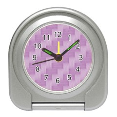 Purple pattern Travel Alarm Clocks