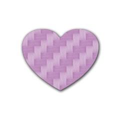 Purple pattern Heart Coaster (4 pack)