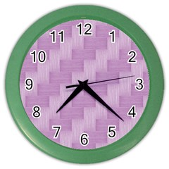 Purple pattern Color Wall Clocks