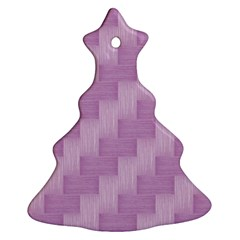 Purple pattern Christmas Tree Ornament (Two Sides)