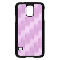Purple pattern Samsung Galaxy S5 Case (Black)