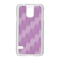 Purple pattern Samsung Galaxy S5 Case (White)