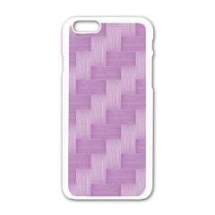Purple pattern Apple iPhone 6/6S White Enamel Case