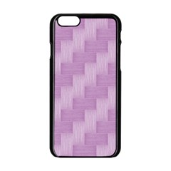 Purple pattern Apple iPhone 6/6S Black Enamel Case