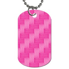 Pink pattern Dog Tag (One Side)