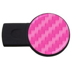 Pink pattern USB Flash Drive Round (4 GB)