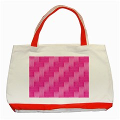 Pink pattern Classic Tote Bag (Red)