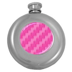 Pink pattern Round Hip Flask (5 oz)