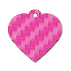 Pink pattern Dog Tag Heart (Two Sides)