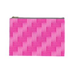 Pink pattern Cosmetic Bag (Large)