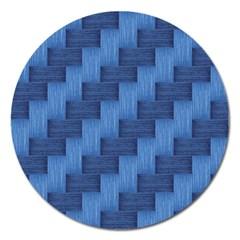 Blue pattern Magnet 5  (Round)