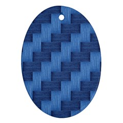 Blue pattern Oval Ornament (Two Sides)