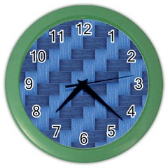 Blue pattern Color Wall Clocks