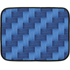 Blue pattern Double Sided Fleece Blanket (Mini)